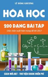 200 dangj bài tập hóa học chắc chắn có trong đề thi
