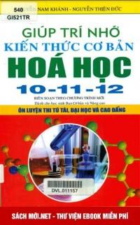 Tải sách Giúp Trí Nhớ Kiến Thức Cơ bản Hóa Học 10-11-12 PDF