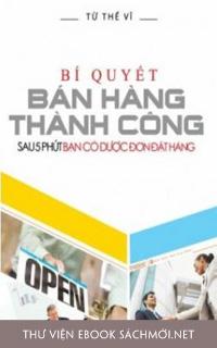 Download sách Bí Quyết Bán Hàng Thành Công PDF/PRC/EPUB/MOBI/AZW3